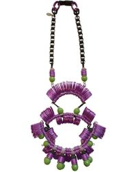 Kirsty Ward - Lavender & Green Statement Necklace - Lyst