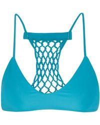 Mikoh Maui Woven String Bikini Top - Lyst