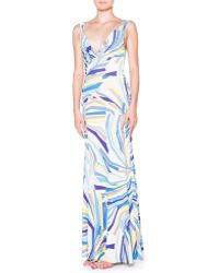 Emilio Pucci Side-ruched Tank Maxi Dress - Lyst
