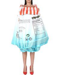 Moschino Popcorn Strapless Dress Multi - Lyst