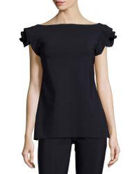 La Petite Robe Di Chiara Boni - Rosette-sleeve Tunic - Lyst