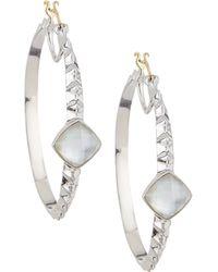 Stephen Webster Large Crystal Haze Hoop Earrings - Lyst