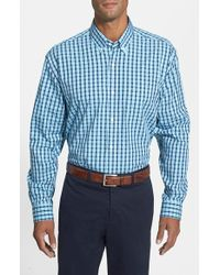 Cutter & Buck 'Crane' Classic Fit Plaid Dobby Sport Shirt - Lyst
