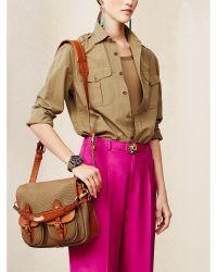 Ralph Lauren Hunting Canvas Messenger Bag - Lyst