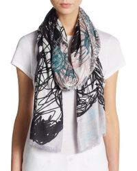 Mir - Cow Doodle Scarf - Lyst
