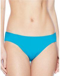 Carmen Marc Valvo - Lattice Solid Classic Bikini Bottom - Lyst