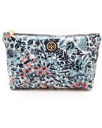 Tory Burch Small Slouchy Cosmetic Pouch  - Lyst