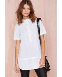 Nasty Gal White Lies Shirtdress - Lyst
