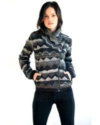 Goddis Lany Bomber Knit Jacket - Lyst