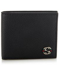 Gucci Bi-Fold Grained-Leather Wallet - Lyst