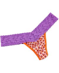 Hanky Panky Low-rise Fruity Candy Print Thong - Lyst