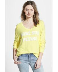 Wildfox Women'S 'More Sun' V-Neck Sweatshirt - Lyst