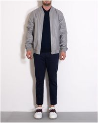 Jil Sander Grey Leather Jacket gray - Lyst