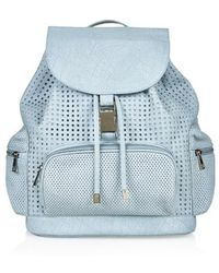 Topshop Blue Perforated Backpack - Lyst