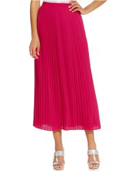 Tommy Hilfiger Pleated Solid Maxi Skirt - Lyst
