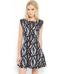 Theyskens' Theory Black Blue Darok Brocade Dress - Lyst