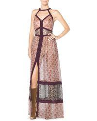 Tamara Mellon Printed Silk Maxi Dress - Lyst