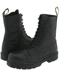Dr. Martens boots flat boots ankle boots - Lyst