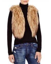 Jack BB Dakota - Faux Fur Cropped Vest - Lyst
