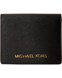 Michael by Michael Kors Jet Set Travel Flap Card Holder - Lyst