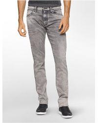 Calvin Klein Jeans Sculpted Massa Slim Jeans - Gray