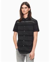 CALVIN KLEIN 205W39NYC - Slim Fit Striped Short Sleeve Shirt - Lyst