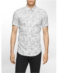 CALVIN KLEIN 205W39NYC - White Label Ck One Slim Fit Splatter Print Short Sleeve Shirt - Lyst