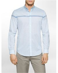 CALVIN KLEIN 205W39NYC - Classic Fit Engineered Plaid Shirt - Lyst