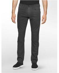 Calvin Klein Jeans Slim Leg Moto Jeans - Multicolor