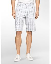 CALVIN KLEIN 205W39NYC - Classic Fit Plaid Shorts - Lyst