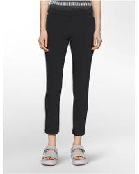Calvin Klein - Platinum Platinum Piper Scuba Extreme Skinny Cropped Pants - Lyst