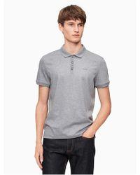 Calvin Klein - Classic Fit Liquid Cotton Interlock Polo Shirt - Lyst