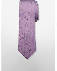 CALVIN KLEIN 205W39NYC - Steel Daisy Pattern Tie - Lyst