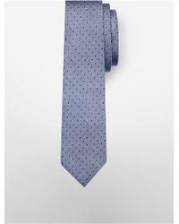 Calvin Klein - Slim Chambray Herringbone Dot Tie - Lyst