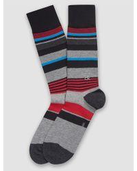 CALVIN KLEIN 205W39NYC - Underwear Multi Stripe Logo Crew Socks - Lyst