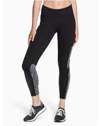 CALVIN KLEIN 205W39NYC - Performance Space-dyed Colorblock Cropped Leggings - Lyst