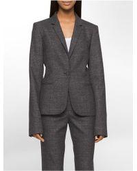 CALVIN KLEIN 205W39NYC - Glen Plaid Suit Jacket - Lyst
