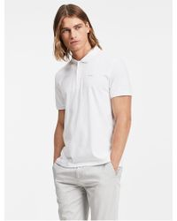 CALVIN KLEIN 205W39NYC - Classic Fit Solid Liquid Cotton Polo Shirt - Lyst