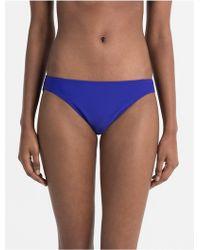 ac6d0f4eb8ad3 Lyst - Calvin Klein Logo Cotton Bikini in Blue