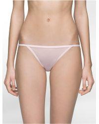 Calvin Klein | Underwear Sheer Marquisette Bikini | Lyst