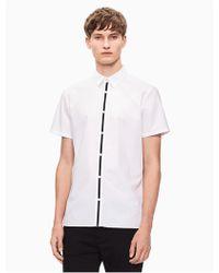 CALVIN KLEIN 205W39NYC - Regular Fit Contrast Stripe Short Sleeve Shirt - Lyst