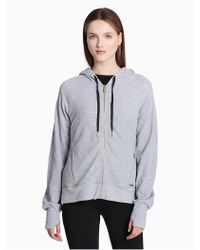 CALVIN KLEIN 205W39NYC - Performance Waffle Knit Hooded Jacket - Lyst