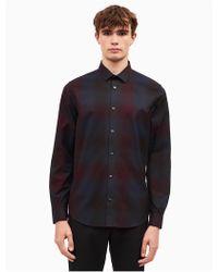 CALVIN KLEIN 205W39NYC - Classic Fit Shadow Plaid Shirt - Lyst