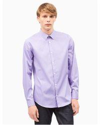 Calvin Klein - Classic Fit Non-iron Ministripe Cotton Stretch Shirt - Lyst