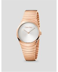CALVIN KLEIN 205W39NYC - Whirl Rose Gold Bracelet Watch - Lyst