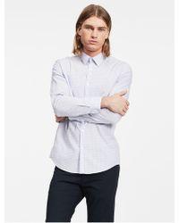 CALVIN KLEIN 205W39NYC - Slim Fit Block Check Non-iron Shirt - Lyst