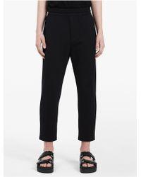 Calvin Klein - Platinum Platinum Micro Textured Biker Pants - Lyst