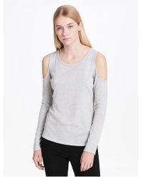 CALVIN KLEIN 205W39NYC - Cold Shoulder Knit Top - Lyst