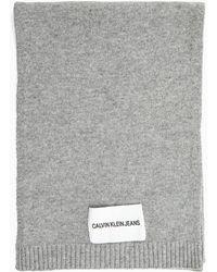Calvin Klein - Wool Blend Scarf - Lyst