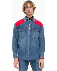 ae8570821b4 Calvin Klein Western Denim Shirt in Blue for Men - Lyst